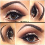 Soft look with winged liner