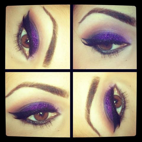 Purple Glitter | Makeup by Sharona