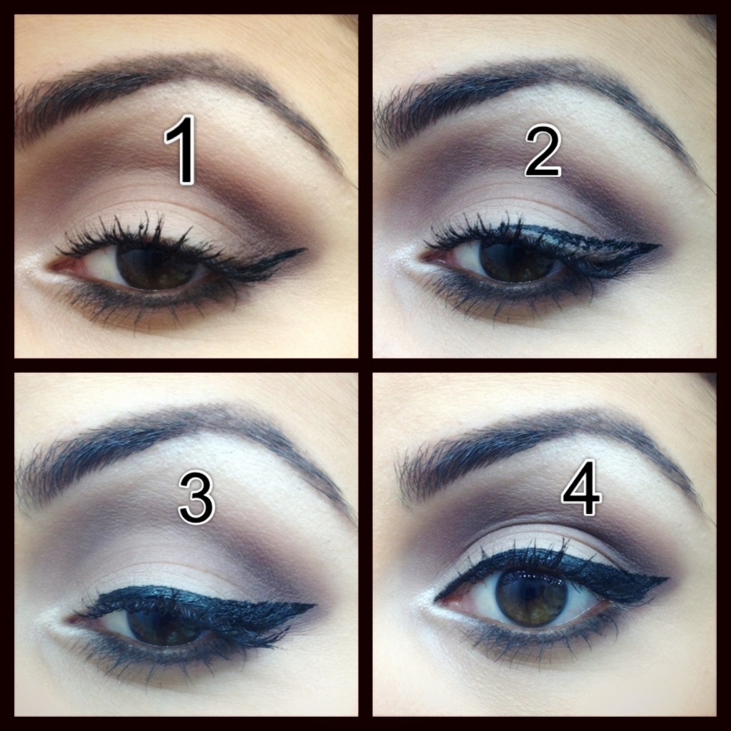 How To Do Winged Eye Liner Makeup By Sharona